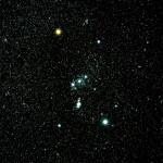 Ground-based image of the Constellation of Orion. The Hubble Space Telescope continues to reveal various stunning and intricate treasures that reside within the nearby, intense star-forming region known as the Great Nebula in Orion.
