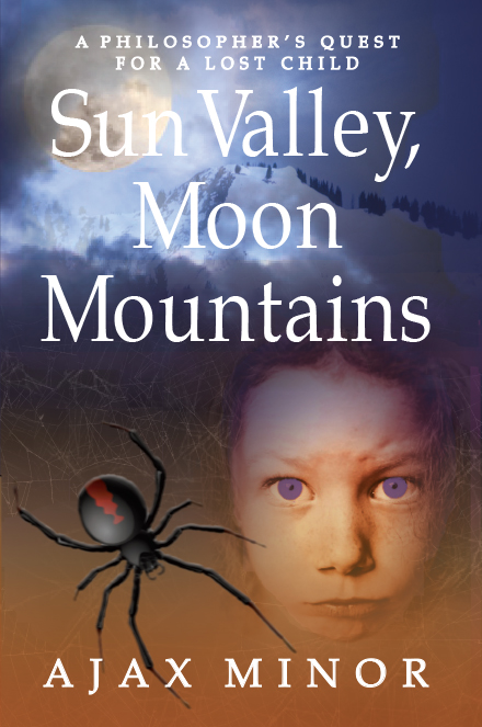 Sun Valley Moon Mountains Fantasy Book Cover by Ajax Minor