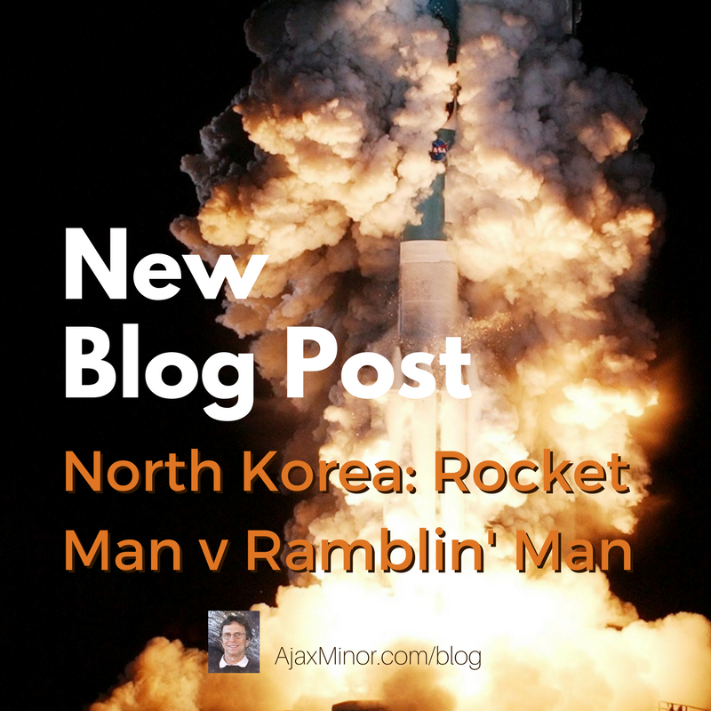 New Blog post by author Ajax Minor, about North Korea